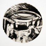 Westfiled White City (II), Monoprint on Khadi Paper, ∅ 30 cm