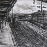 St. Pancras, Oil Pastel on Tracing Paper, 20.4 x 29 cm