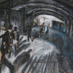 Underpass, Oil Pastel on Paper, 19.3 x 27.6 cm